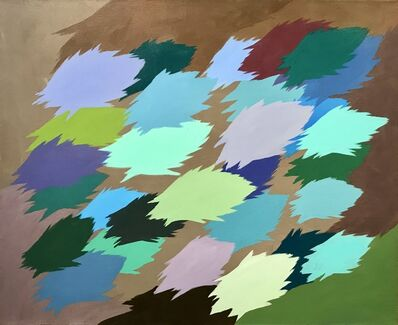 Edgar Heap of Birds, 'Neuf Painting, no. 1', 2012
