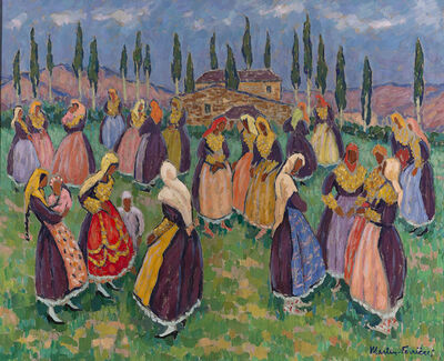 Jac Martin-Ferrieres, 'Folk Dancers', ca. 20