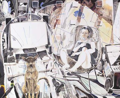 Chris HUEN Sin Kan, 'MuiMui and Haze, Oil on canvas', 2018