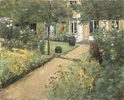 Max Liebermann, 'Der Nutzgarten in Wannsee nach Nordosten (The Garden in Wannsee Looking Northeast)', 1917