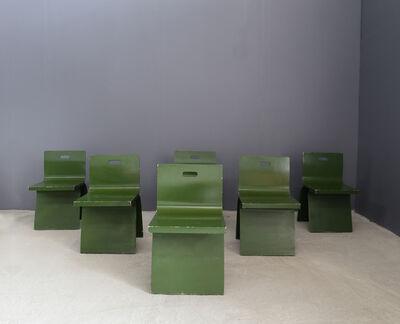 Alvar Aalto, 'Set of 6 chairs late 40's Alvar Aalto in veneered wood', ca. 1940