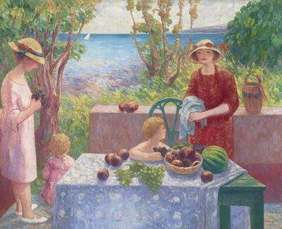 Henri Lebasque, 'Sainte-Maxime, Le Goûter des Enfants', 1917-1918