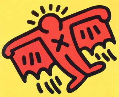 Keith Haring, 'Icons: (D) Flying Devil', 1990