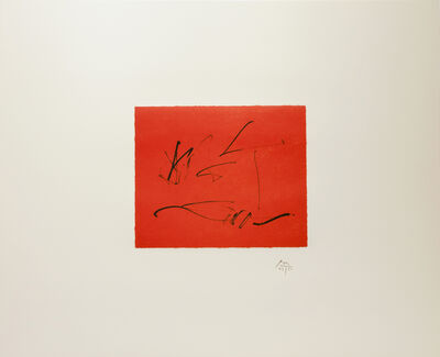 Robert Motherwell, 'RED WIND from the Octavio Paz Suite (CR 441)', 1988