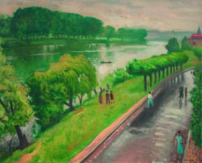 Albert Marquet, 'Route du bord de la Seine à La Frette'
