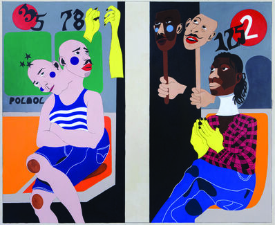 Nina Chanel Abney, 'Ivy and the Janitor in January', 2009