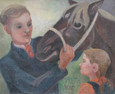 Orovida Pissarro, 'Father, Daughter and Horse', 1947