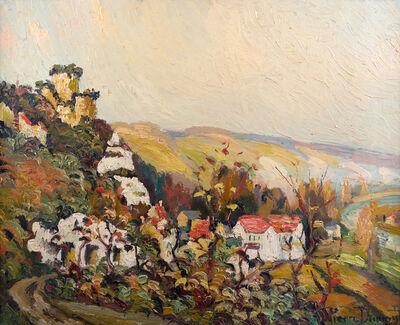 Pierre Jean Baptiste Louis Dumont, 'Village Près D'une Rivière Sur Les Hauteurs', ca. 1910