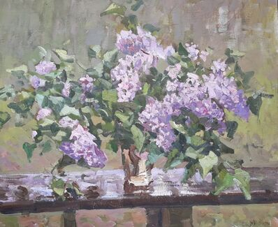 Victor Butko, 'Lilacs on a Table', 2018