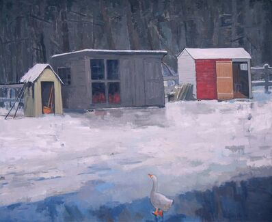 Salvatore Del Deo, 'Barnyard in Winter', 1990