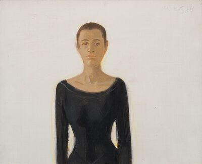 Alex Katz, 'Study for Black Dress', 1989