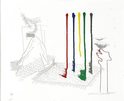 David Hockney, 'I say they are', 1976-1977