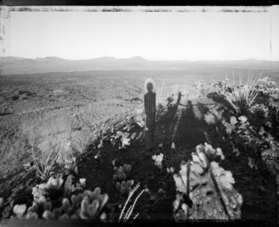 Mark Klett, 'Self Portrait With Saguaro '