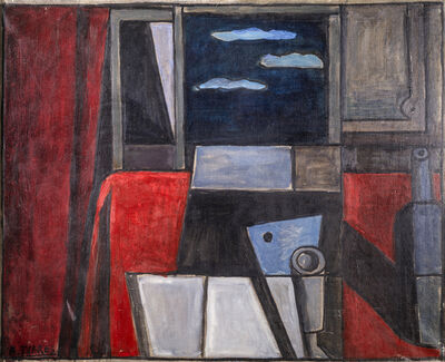 "Augusto Torres, '""Naturaleza muerta con cortina roja""', 1989"