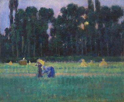 Theodore Wendel, 'The Harvest Gleaners, Giverny', 1887-1888