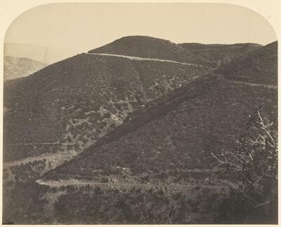 Carleton E. Watkins, 'Railroad / Railroad Down the Mountain', 1860