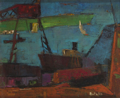 Angel Botello, 'Boats in port'