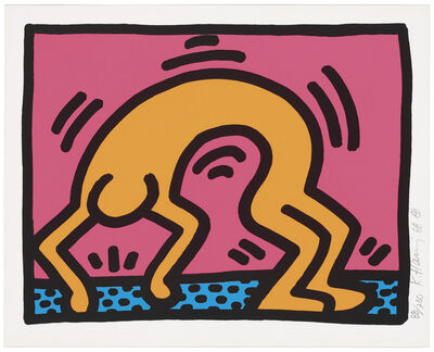 Keith Haring, 'One Plate from: Pop Shop II', 1988