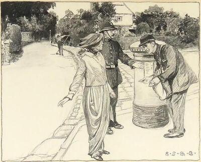 Elizabeth Shippen Green, 'The Suspected Suffragette', 1913