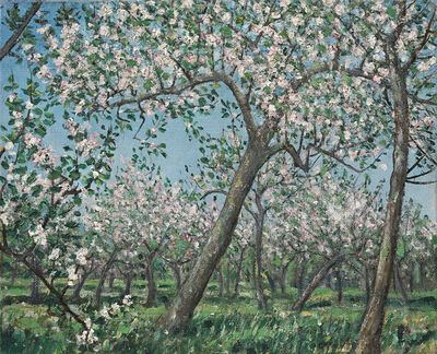 Christopher Richard Wynne Nevinson, 'The Apple Orchard - The Bath Road', ca. 1926
