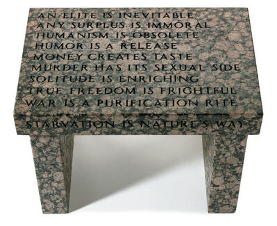 Jenny Holzer, 'Truism Footstool', 1988