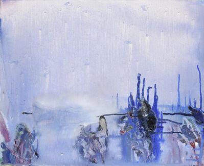 Olivier Debré, 'Taches Bleues Coulées …', 1998