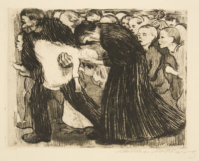 Käthe Kollwitz, 'Run Over', 1910