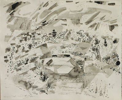 André Masson, 'Assemblée sur un pont', 1960