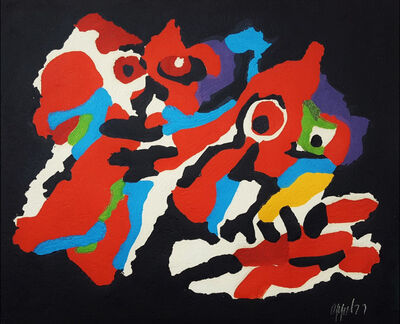 Karel Appel, 'Couple in the Night', 1977