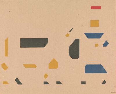 Bart van der Leck, 'Composition meisje met koe', ca. 1921