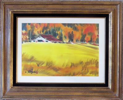 Lewis Suzuki, 'Autumn Landscape with Barn', ca. 1970