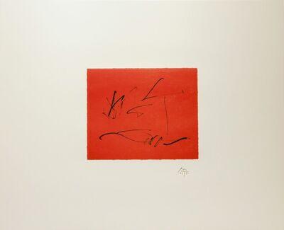 Robert Motherwell, 'Red Wind (Octavio Paz Suite)', 1988