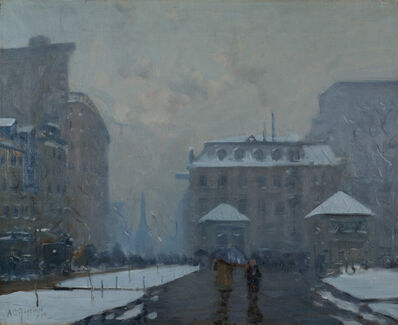 Arthur Clifton Goodwin, 'Looking Down Tremont Street, Boston, MA', 1910