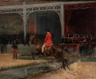 Emile Meyer, 'Count Potocki Riding in the Horse Show at the Hippodrome, Paris'