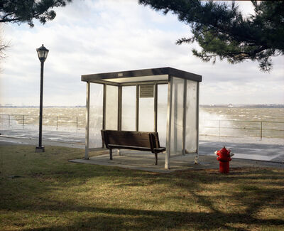 Lisa Kereszi, 'Bus Stop with Sea Spray, Governor's Island, NY', 2003
