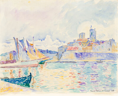 Henri-Edmond Cross, 'Un coin du port d'Antibes', 1908