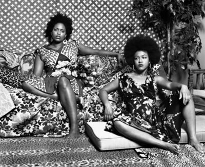 Mickalene Thomas, 'A Moment's Pleasure in Black and White', 2006-2008