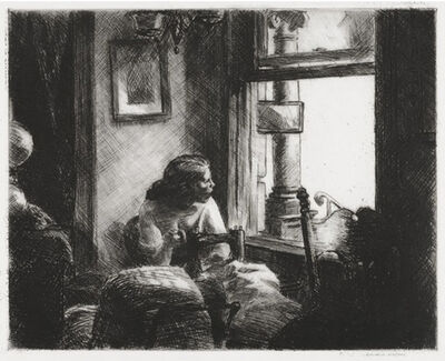 Edward Hopper, 'East Side Interior ', 1922