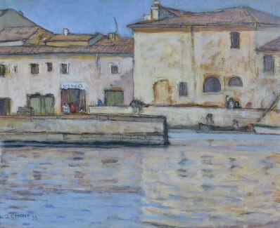 Galileo Chini, 'L'Imbocco Della Vecchia Darsena', 1932