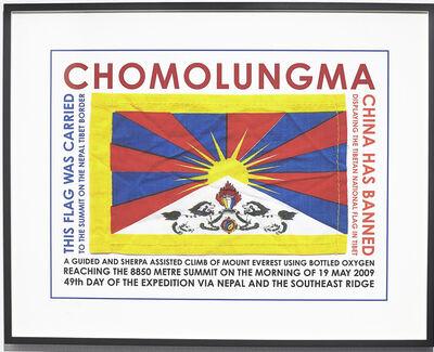 Hamish Fulton, 'Chomolungma (Tibetan National Flag), Nepal', 2009