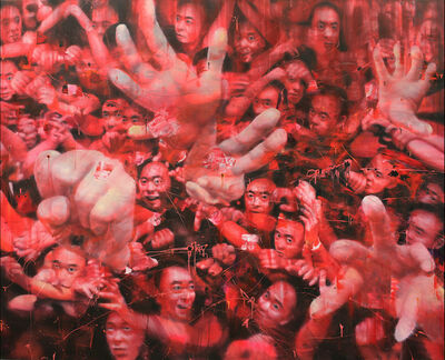 Li Tianbing, 'Red Accumulation', 2019