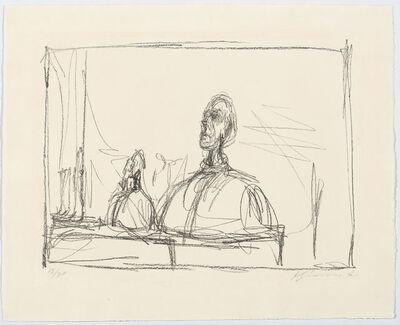 Alberto Giacometti, 'Buste de Diego au col roulé et sculptures sur l'étagère de l'atelier II', 1951