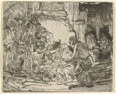 Rembrandt van Rijn, 'The Adoration of the Shepherds: with the Lamp', ca. 1654