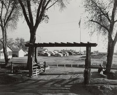 Dorothea Lange, 'Entrance to Kern County Migrant Camp, California'