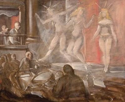 Reginald Marsh, 'Burlesque Show'