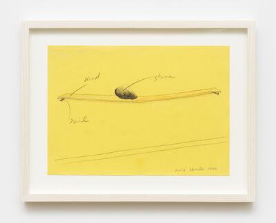 Keiji Uematsu, 'Project Drawing', 1980