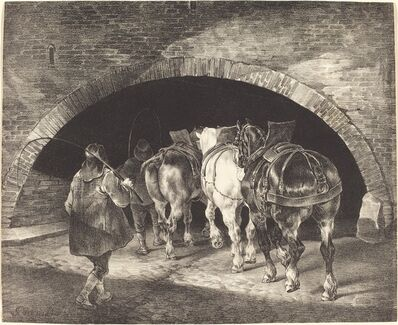 Théodore Géricault, 'Adelphi Wharf', 1821