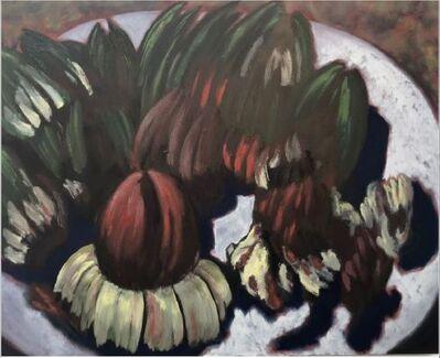 Guy de Malherbe, 'Reliefs - Restes d'un repas d'artichauts X', 2019