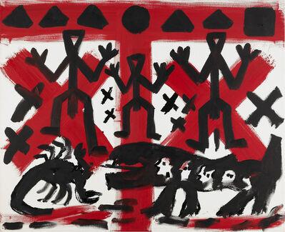 A.R. Penck, 'o.T. (Drei von Vielen)', 1990