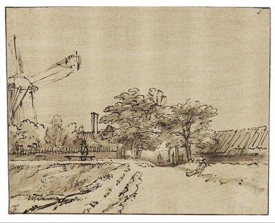 Rembrandt van Rijn, 'Rampart near the Bulwark beside the St. Anthonispoort in Amsterdam', 1648-1652